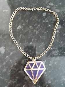 Large Acrylic Diamond Shape Necklace
