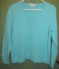 Liz Claiborne Women's Petite Long Sleeve Blue Sweater Size PL