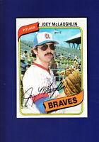 Joey McLaughlin 1980 TOPPS Baseball #384 (NM+) Atlanta Braves