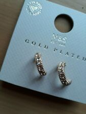 M&S Gold Plated 3/4 Hoop Earrings