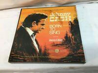 Johnny Cash 5 Vinyl record set Born to Sing feat. Jeannie C. Riley Vintage LP