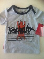 Sooki Baby Boy Tshirt Grey With Tiger Print Size 00 Bnwt