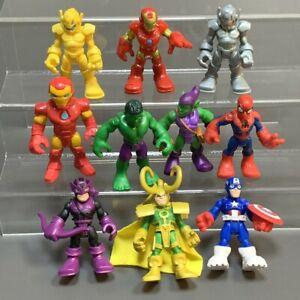 Marvel Playskool Super Hero Adventures Loki Hulk Hawkeye Ultron Figures Toy Gift