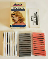 1996 Sealed GOODY PERM WAVES PROFESSIONAL RODS Medium Length Hair 36 SM MD LRG