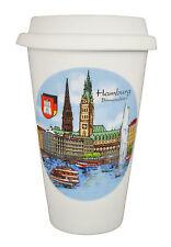 Coffee to go Becher mit schönem Motiv den Hamburger Binnenalster, Kaffeebecher