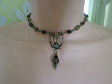VINTAGE VICTORIAN STYLE CHOKER NECKLACE - STEAMPUNK GOTHIC BOHO
