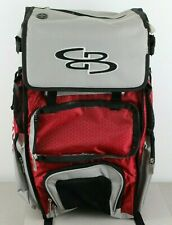 Boombah Baseball Softball Superpack Gray Red TEAR ON FLAP NO FRONT FLAP