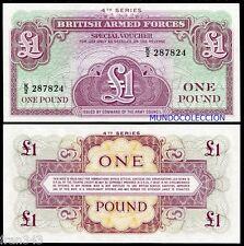 GRAN BRETAÑA FUERZAS ARMADAS BRITAIN 1 pound  libra 1962 Pick M36  SC / UNC