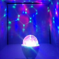 1Pc RGB Light Lamp Bulb Multicolor Colorful Rotating LED Light Bulb for Party