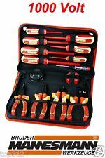 Elektro Werkzeugsatz 14 tlg Werkzeugset Zangene Elektriker Werkzeug profi 1000V