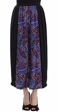 NWT $800 Caterina Gatta Multicolor Palazzo Pants Floral Silk Cropped IT40/US6