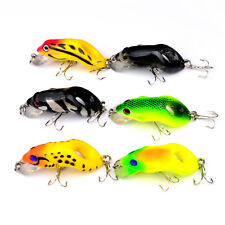 6PCS Sea Fishing Fish Bass Topwater Frog Minnow lure hook baits 8.8g