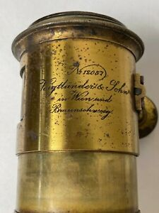 Voigtlander Petzval Lens - Half Plate Size from 1862 - Nice brass lens