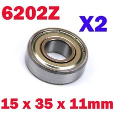 6202ZZ 6202Z 6202-2Z 6202 2Pcs 15x35x11mm Steel Sealed Deep Groove Ball Bearing