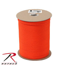 Rothco 218 Nylon Paracord 550lb 1000 Ft Spool - Safety Orange