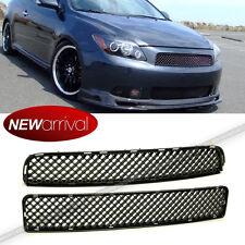 Fit tC 04 05 -10 Upper Lower Center Badgeless Glossy Black VIP Mesh Grill Grille