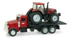 1/64th Case IH Red Peterbilt Straight Truck with Case IH Puma