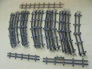 """Leeds(LMC)""""O""""set-track- 20pcs of curves/straights-little used-3 rail/unbxd-c1954"""