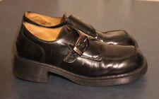 DR MARTENS Vtg WOMENS Black Leather Monk strap Buckle Shoes 8496 sz UK 8, US 10