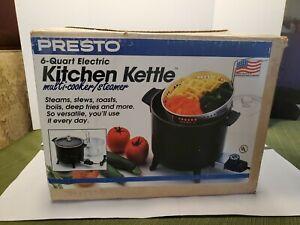 1994 Presto Kitchen Kettle Electric Multi Cooker Fryer 6 Quart New Old Stock