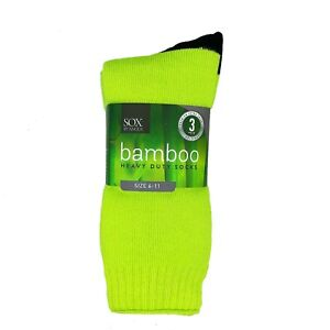 Bamboo Heavy Duty Socks - 3 Pairs Pack,Work Socks,Heavy Duty Socks,Outdoor Socks