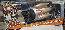 "Speed Racer Mach 5 Deluxe Vehicle 5"" Action Figure Car Artasylum DVD NEW"