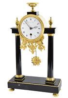 PORTIQUE DUVOY. Kaminuhr clock bronze horloge antique uhren cartel pendule
