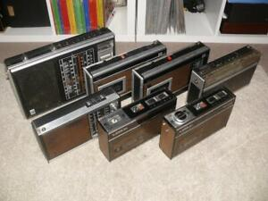 7 x Vintage Grundig / Philips Radios / Cassette Players ~ For Spares / Repair
