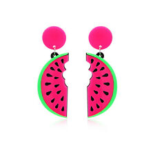 1 Pair Funny Creative Women Girls Gift Watermelon Drop Dangle Earrings Jewelry