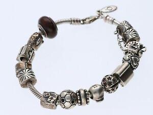 Pandora Armband 925 Sterling Silber mit 14 Charms / a211