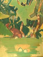 Hans Øllgaard (b. 1911, d. 1969). Abstract modernist landscape. 1950 / 60's.