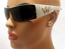 Triple Crown LOC OG Large Sunglasses Dark Brown Lenses White Reaction