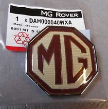 New Genuine MGZR ZS ZT Front Badge Emblem Burgundy / Cream 59mm DAH000040WXA