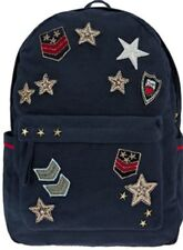 Monsoon Accessorize Military Badge Large Backpack Navy Blue Multi Red