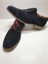Johnston and Murphy Men's Dark Blue Suede And Red Stitching Comfort Shoes 13m