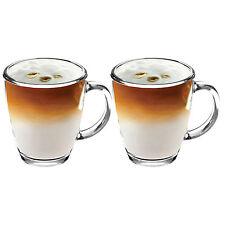 2x NUOVO 350ML VETRO CHIARO tazze tè caffè HOT CIOCCOLATO LATTE CAPPUCINO Mocha COPPA