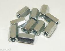 25x 5/16-18 Zinc Plated Heavy Duty Coupling Nut 1/2 hex 7/8 long USA