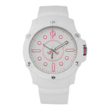 Juicy Couture Womens Surfside White Pink Rubber Sport Quartz Watch 1900904