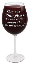 Weinglas  Rotwein riesig 3x 750 ml Glas XXL Wein Scherzartikel