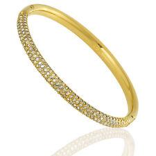 Swarovski Gold-Tone Stone Mini Bangle - Small