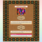 AUCTION TEMPLATE Textile Border Frame Design Rust Background - FREE SHIPPING
