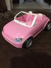Mattel 2001 Barbie Convertible Roadster (Bug ?) Vehicle Car Pink