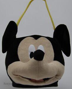 Easter Disney Mickey Mouse Face Plush Jumbo Large Tote Basket 12x12 NWT