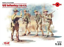 WW I U.S. INFANTRY (1917) WITH WEAPONS /AMERICAN EXPEDITIONARY FORCE/ 1/35 ICM