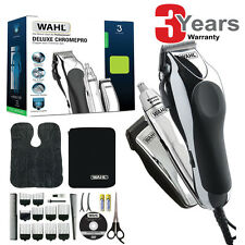 Wahl 79524-810 Deluxe Pro Chrome completa capelli Clipper NASO ORECCHIE TRIMMER KIT