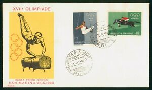 Mayfairstamps San Marino FDC 1960 XVII Olimpiade Sports Combo Gymnast First day