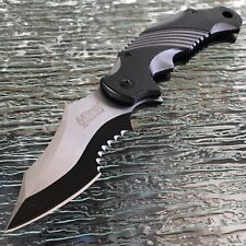 "8.25"" MTECH USA XTREME SPRING ASSISTED TACTICAL FOLDING POCKET KNIFE Open"