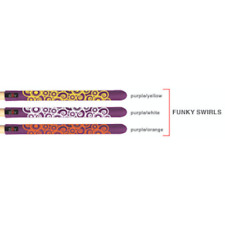GRUV GEAR - SLIIV DRUM - Drum Stick Sleeve/Grips (Funky Swirls) - Red