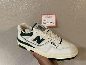 New Balance 550 Aime Leon Dore Evergreen White Green Basketball Shoes 10.5 10