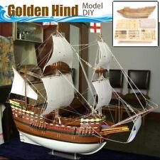 Golden Hind Ship Assembly Model DIY Kits Wooden Sailing Boat Decoration Toy Gift